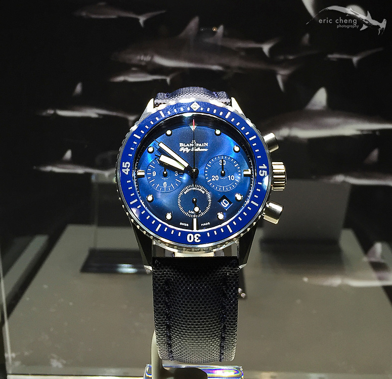The new Ocean Commitment Fifty Fathoms Bathyscaphe Chronographe Flyback