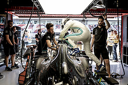 May 10, 2019 - Barcelona, Spain - #77 Valtteri Bottas (FIN, Mercedes AMG Petronas Motorsport) enters cockpit FIA Formula One World Championship 2019, Grand Prix of Spain. (Credit Image: © Hoch Zwei via ZUMA Wire)