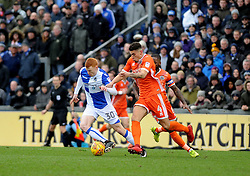 Rory Gaffney of Bristol Rovers is challenged by Ben Godfrey of Shrewsbury Town - Mandatory by-line: Neil Brookman/JMP - 03/02/2018 - FOOTBALL - Memorial Stadium - Bristol, England - Bristol Rovers v Shrewsbury Town - Sky Bet League One