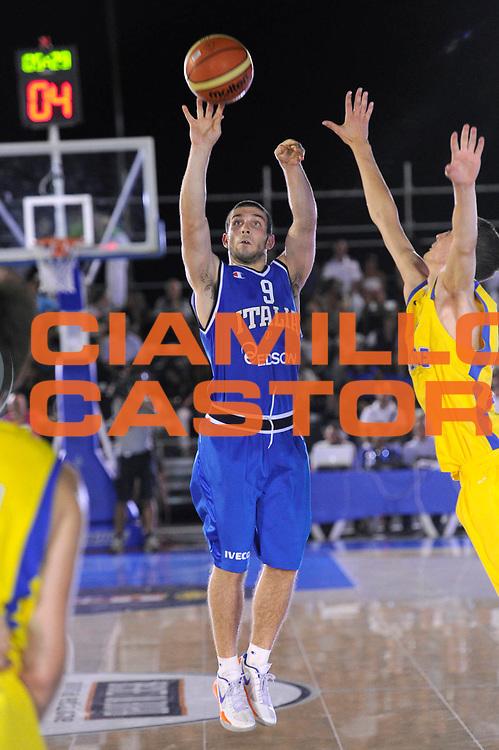 DESCRIZIONE : Taranto Basket On Board sulla portaerei Cavour  Nazionale Italia Under 18 Maschile Svezia <br /> GIOCATORE : Procacci<br /> CATEGORIA : tiro<br /> SQUADRA : Nazionale Italia Under 18<br /> EVENTO :  Basket On Board sulla portaerei Cavour<br /> GARA : Nazionale Italia Under 18 Maschile Svezia <br /> DATA : 12/07/2012 <br />  SPORT : Pallacanestro<br />  AUTORE : Agenzia Ciamillo-Castoria/C. De Massis<br />  Galleria : FIP Nazionali 2012<br />  Fotonotizia : Taranto Basket On Board sulla portaerei Cavour  Nazionale Italia Under 18 Maschile Svezia <br />  Predefinita :