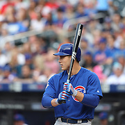 NEW YORK, NEW YORK - July 01: Anthony Rizzo #44 of the Chicago Cubs batting during the Chicago Cubs Vs New York Mets regular season MLB game at Citi Field on July 01, 2016 in New York City. (Photo by Tim Clayton/Corbis via Getty Images)