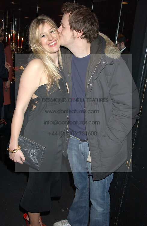 TOM PARKER BOWLES and his wife SARA at a party to celebrate the first issue of British Harper's Bazaar held at Cirque, 10-14 Cranbourne Street, London WC2 on 16th February 2006.<br />