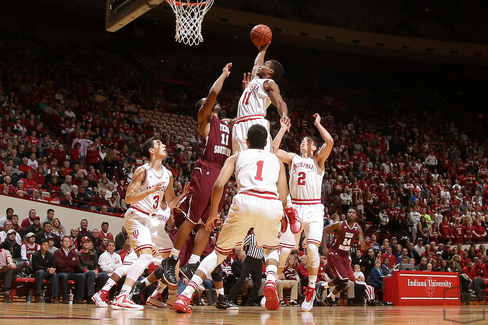 Indiana guard Yogi Ferrell (11) as Texas Southern University played Indiana in an NCCA college basketball game, Monday, Nov. 17, 2014 in Bloomington, Ind.. (AJ Mast /Photo)
