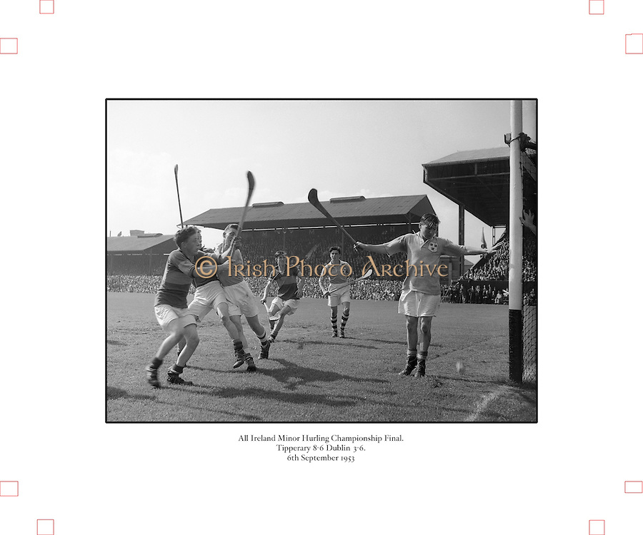 Neg No:.292/4176-4189...1953AIMHCF...06.09.1953, 09.06.1953, 6th September 1953.All Ireland Minor Hurling Championship - Final...Tipperary.8-6.Dublin.3-6.