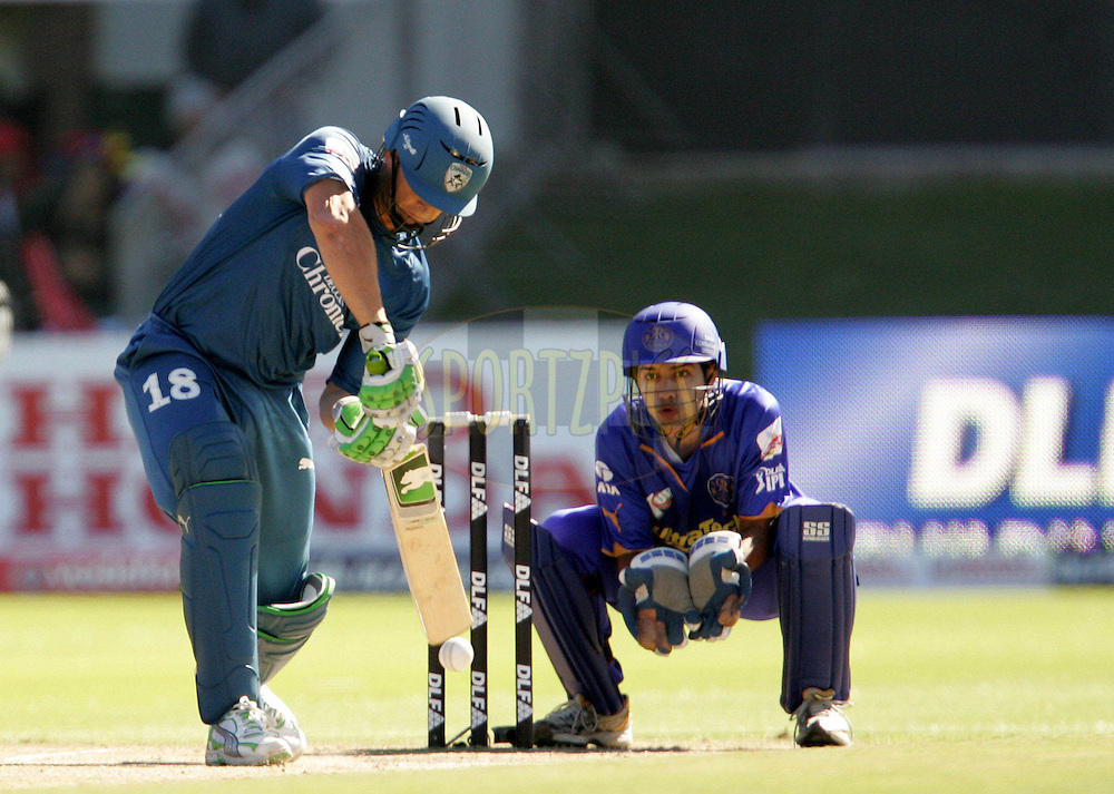 PORT ELIZABETH, SOUTH AFRICA - 02 May 2009. Adam Gilchrist during the  IPL Season 2 match between the Deccan Chargers and the Rajatshan Royals held at St Georges Park in Port Elizabeth , South Africa..