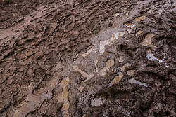 A lot of mud on and along the course, UCI Cyclo-cross World Championships at Valkenburg, the Netherlands, 3 February 2018. Photo by Pim Nijland / PelotonPhotos.com | All photos usage must carry mandatory copyright credit (Peloton Photos | Pim Nijland)