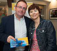 22/07/2015 repro free Bernard and AnneMarie McHale Creggmore at the Ulster Bank sponsored evening at The Galway International Arts Festival's production of Frank McGuinnesses'  The Match Box, starring Cathy Belton At the Town Hall Theatre. Photo:Andrew Downes.