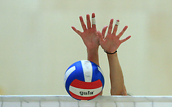 Ball at semifinal of 1st DOL volleyball match between OK Sloving Vital, Ljubljana and OK Nova KBM Branik, Maribor played in BIC center, on April 1, 2009, in Ljubljana, Slovenia. Nova KBM Branik won 3:1. (Photo by Vid Ponikvar / Sportida)