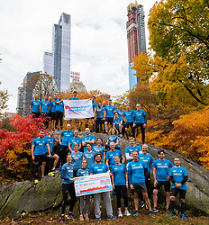 03-11-2018 USA: NYC Marathon We Run 2 Change Diabetes day 2, New York<br /> day before the marathon the usual photo shoot in Central Park / Team BvdGF and Novo Nordisk