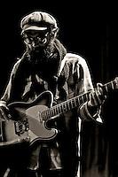 Josh Bruner of The Blank Tapes performs at studio in Berkeley, CA.  Copyright 2009 Reid McNally.