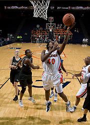 Virginia Cavaliers G Enonge Stovall (40)..The Virginia Cavaliers women's basketball team faced Team Concept in an exhibition basketball game at the John Paul Jones Arena in Charlottesville, VA on November 5, 2007.