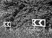 Coast to Coast XXII. Road sign near Robin Hood's Bay