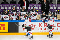Ryan O Reilly of Canada and Mark Scheifele of Canada celebrate after scoring fifth goal during the 2017 IIHF Men's World Championship group B Ice hockey match between National Teams of Canada and Norway, on May 15, 2017 in AccorHotels Arena in Paris, France. Photo by Vid Ponikvar / Sportida