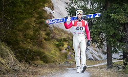 19.12.2014, Nordische Arena, Ramsau, AUT, FIS Nordische Kombination Weltcup, Skisprung, Training, im Bild Sebastien Lacroix (FRA) // during Ski Jumping of FIS Nordic Combined World Cup, at the Nordic Arena in Ramsau, Austria on 2014/12/19. EXPA Pictures © 2014, EXPA/ JFK