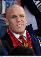 25 June 2013; Paul O'Connell, British & Irish Lions, watches the game from the stand. British & Irish Lions Tour 2013, Melbourne Rebels v British & Irish Lions. AAMI Park, Olympic Boulevard, Melbourne, Australia. Picture credit: Stephen McCarthy / SPORTSFILE