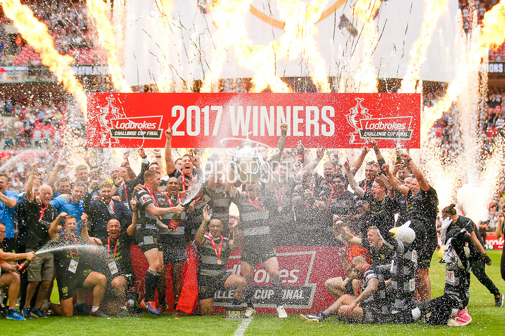 Hull FC winners of the Ladbrokes Challenge Cup Final 2017 match between Hull RFC and Wigan Warriors at Wembley Stadium, London, England on 26 August 2017. Photo by Simon Davies.