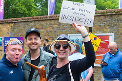 Desperate fans search for spare tickets as crowds flock to Lords Cricket Ground, the Home of Cricket to watch the ICC Cricket World Cup final between England and New Zealand. London, July 14 2019.