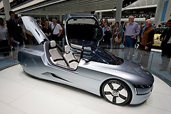 Volkswagen L1 ultra low fuel consumption concept vehicle on display at the Frankfurt Motor Show 2009