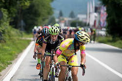 Pressure is on for the start here Riejanne Markus (Liv Plantur) is working to force the break at the final stage of the Giro Rosa 2016 on 10th July 2016. A 104km road race starting and finishing in Verbania, Italy.