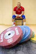 Kornel Czekiel from Poland (Budowlani Opole; category 105kg) during training session two weeks before weightlifting IWF World Championships Wroclaw 2013 at the Olympic Sports Centre in Spala on October 08, 2013.<br /> <br /> Poland, Warsaw, September 16, 2013<br /> <br /> Picture also available in RAW (NEF) or TIFF format on special request.<br /> <br /> For editorial use only. Any commercial or promotional use requires permission.<br /> <br /> Mandatory credit:<br /> Photo by © Adam Nurkiewicz / Mediasport