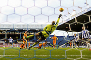 Sheffield Wednesday defender, on loan from Watford, Daniel Pudil scores Wednesdays third goal during the Sky Bet Championship match between Sheffield Wednesday and Wolverhampton Wanderers at Hillsborough, Sheffield, England on 20 December 2015. Photo by Simon Davies.