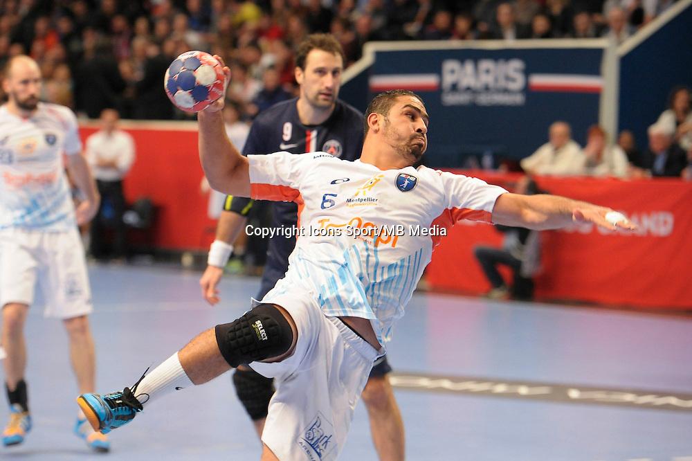 Issam Tej - 03.12.2014 - PSG / Montpellier - 12eme journee de D1<br />Photo : Andre Ferreira / Icon Sport