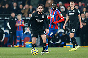 Davy Propper in action during the Premier League match between Crystal Palace and Brighton and Hove Albion at Selhurst Park, London, England on 16 December 2019.