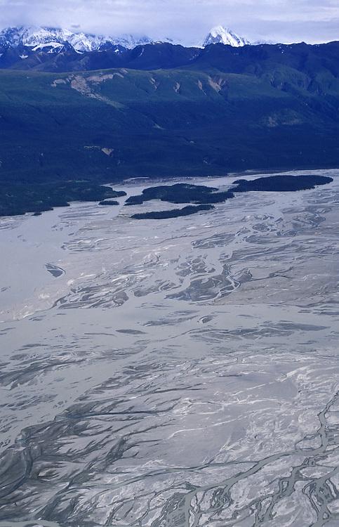 Aerial View.Chitina River.Wrangell St.Elias Natl.Park.Alaska.USA