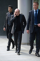© London News Pictures. 16/11/2011. London, UK. Russian Oligarch Boris Berezovsky leaving The Royal Courts Of Justice during a break today (16/11/2011).  Boris Berezovsky has started a £3.2 billion lawsuit at the High Court in a battle over Abramovich's £10.3 billion fortune. Photo credit: Ben Cawthra/LNP