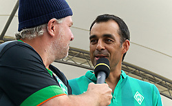 03.08.2014, Weserstadion, Bremen, GER, SV Werder Bremen, Tag der Fans, im Bild Robin Dutt (Cheftrainer SV Werder Bremen) auf der Bühne // during the supporters day of the german 1st Bundesliga Club SV Werder Bremen at the Weserstadion in Bremen, Germany on 2014/08/03. EXPA Pictures © 2014, PhotoCredit: EXPA/ Andreas Gumz<br /> <br /> *****ATTENTION - OUT of GER*****