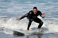 Gisborne-Rugby, RWC, Namibians take to the surf