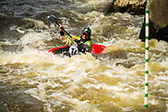 Racers compete in the second annual Cuyahoga Falls Kayak Race.