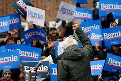 Bernie Sanders, Independent US Senator from Vermont is greeted by supporters as he arrives to kicks-off his campaign for the 2020 U.S. Presidential Elections on a Democratic ticket at a rally at Brooklyn Collage, in Brooklyn, NY on March 2, 2019.