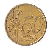 50 Euro Cents (Half a Euro) Nordic gold coin (Italy)