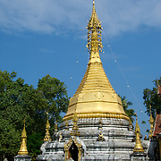 Chedi at Wat Tor Pae at Khun Yuam in Mae Hong Song, Thailand.