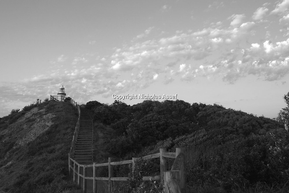 Stairways lead through the  national Park to the lighthouse - amazing view as the stairs are alighted