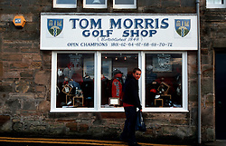 UK SCOTLAND ST ANDREWS 1-2JUN04 -  Golf shop in the town of St. Andrews. The Royal and Ancient Golf Club of St. Andrews, Fife, Scotland is celebrating its 250th anniversary this year and is the governing authority for the rules of the game in more than 100 affiliated nations and is responsible for the Open Championship and key amateur and international events. The R & A is also dedicated to the development of golf world-wide and is a leader in environmental and ecological research.......jre/Photo by Jiri Rezac....© Jiri Rezac 2004....Contact: +44 (0) 7050 110 417..Mobile:  +44 (0) 7801 337 683..Office:  +44 (0) 20 8968 9635....Email:   jiri@jirirezac.com..Web:     www.jirirezac.com....© All images Jiri Rezac 2004 - All rights reserved...