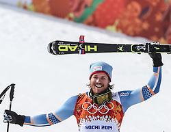 16-02-2014 SKIEN: OLYMPIC GAMES SCHANSSPRINGEN: SOTSJI<br /> Olympic Champion Kjetil Jansrud of Norway during the mens Super G to the Olympic Winter Games Sochi 2014<br /> ***ONLY NETHERLANDS***<br /> ©2014-FotoHoogendoorn.nl