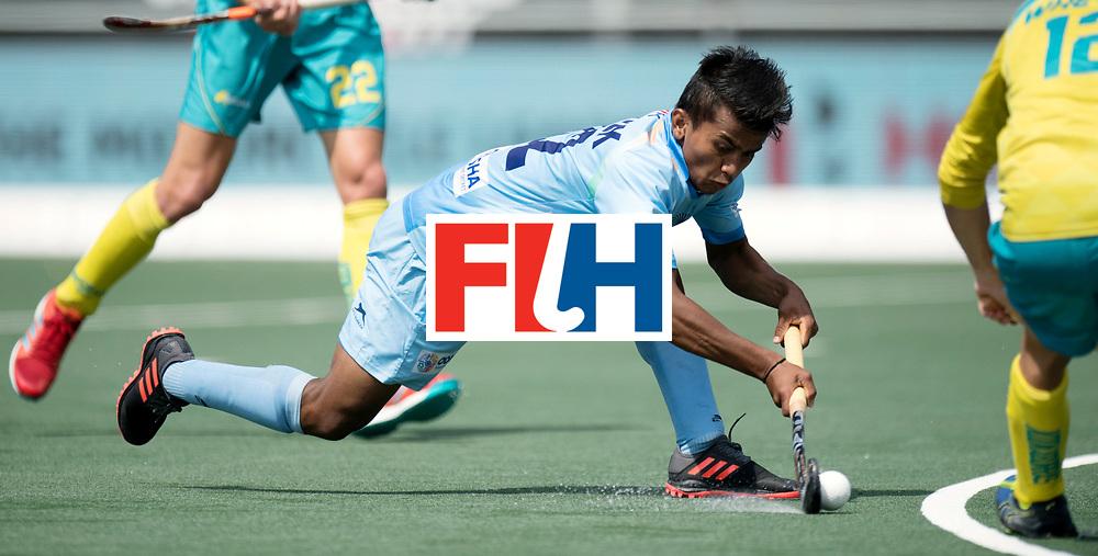 BREDA - Rabobank Hockey Champions Trophy<br /> India - Australia<br /> Photo: Varun Kumar.<br /> COPYRIGHT WORLDSPORTPICS FRANK UIJLENBROEK