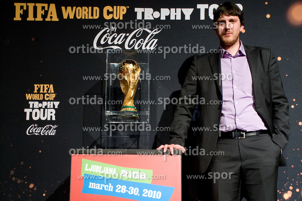 Jure Grilc of Telekom Slovenija at VIP reception of FIFA World Cup Trophy Tour by Coca-Cola, on March 29, 2010, in BTC City, Ljubljana, Slovenia.  (Photo by Vid Ponikvar / Sportida)