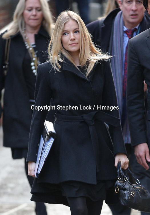 Sienna Miller arriving at The Leveson Inquiry in London, Thursday, 24th November 201 Photo by: Stephen Lock / i-Images<br />