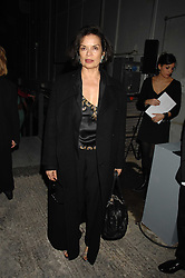 BIANCA JAGGER at an exclusive installation by Martin Creed and presentation of the Calvin Klein Spring 2008 collection held at P3 35 Marylebone Road, London on 15th October 2007.<br />
