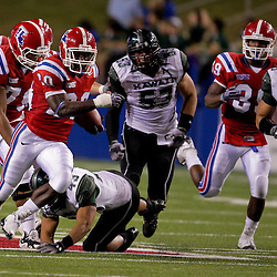 Sep 30, 2009; Ruston, LA, USA; Louisiana Tech Bulldogs running back Daniel Porter (20) breaks away from the Hawaii Warriors defense during the second half at Joe Aillet Stadium. Louisiana Tech defeated Hawaii 27-6. Mandatory Credit: Derick E. Hingle-US PRESSWIRE