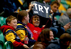 Worcester Warriors fans - Mandatory by-line: Robbie Stephenson/JMP - 28/07/2017 - RUGBY - Franklin's Gardens - Northampton, England - Wasps v Leicester Tigers - Singha Premiership Rugby 7s