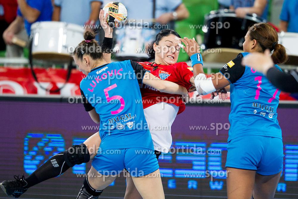 Maja Lukovic of RK Krim Mercator during handball match between RK Krim Mercator (SLO) and HCM Baia Mare (ROM) in 1st Round of Women's EHF Champions League 2015/16, on October 16, 2015 in Arena Stozice, Ljubljana, Slovenia. Photo by Urban Urbanc / Sportida