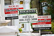 For Sale signs, West Hampstead, London