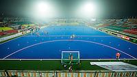 LUCKNOW (India) -  overzicht van het veld   voor de oefenwedstrijd tegen Korea voor de Junior  World Cup hockey men . COPYRIGHT KOEN SUYK