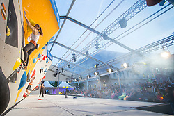 Petra Klingler (SUI) at Fnal of Climbing event - Triglav the Rock Ljubljana 2018, on May 19, 2018 in Congress Square, Ljubljana, Slovenia. Photo by Urban Urbanc / Sportida