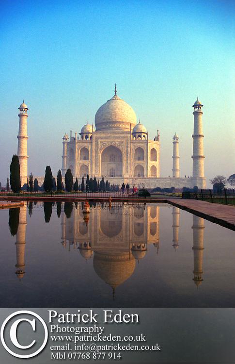 The Taj Mahal, Sunrise, Jamuna River, Agra, India, photograph photography