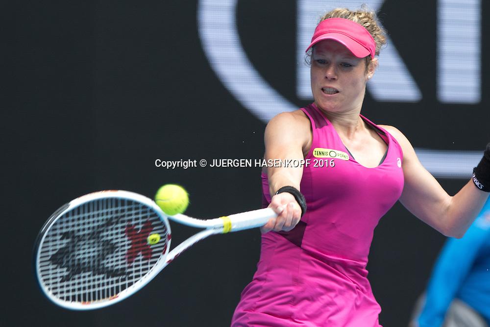 Laura Siegemund, Australian Open 2016<br /> <br /> Tennis - Australian Open 2016 - Grand Slam ITF / ATP / WTA -  Melbourne Park - Melbourne - Victoria - Australia  - 21 January 2016.